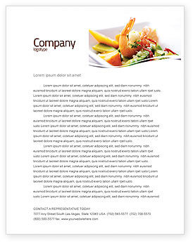 Food & Beverage: Shrimp Letterhead Template #05355