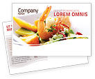 Food & Beverage: Shrimp Postcard Template #05355