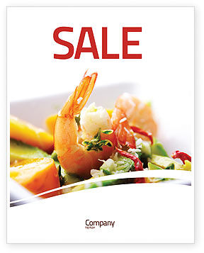 Food & Beverage: Shrimp Sale Poster Template #05355