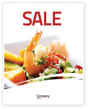 Food & Beverage: Plantilla de póster - camarón #05355