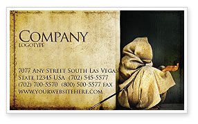 Asian Poverty Business Card Template, 05361, People — PoweredTemplate.com
