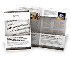 Education & Training: Glossary Brochure Template #05367