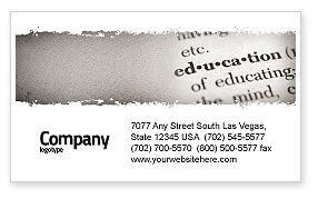 Glossary Business Card Template, 05367, Education & Training — PoweredTemplate.com