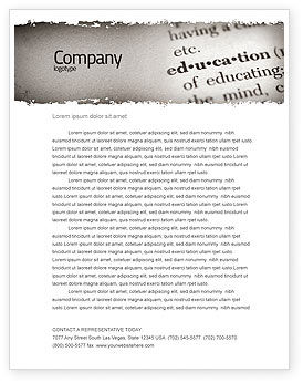 Glossary Letterhead Template, 05367, Education & Training — PoweredTemplate.com