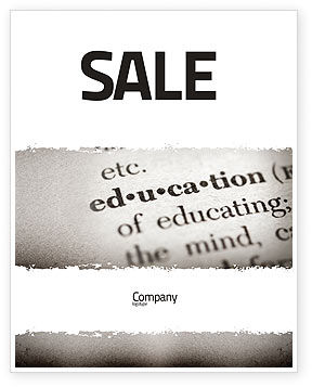 Glossary Sale Poster Template