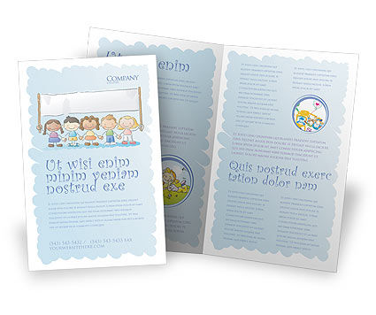 Childish Brochure Template, 05368, Education & Training — PoweredTemplate.com