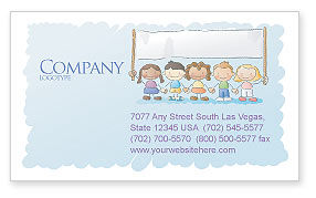 Financial/Accounting: Childish Business Card Template #05368