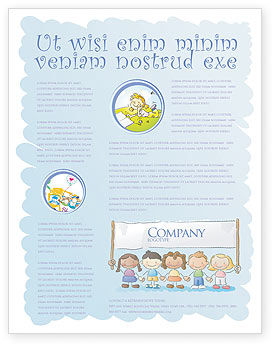 Financial/Accounting: Childish Flyer Template #05368