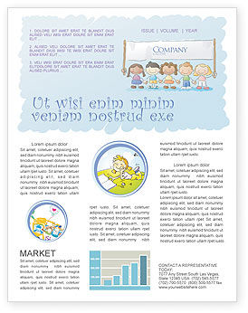 Financial/Accounting: Childish Newsletter Template #05368