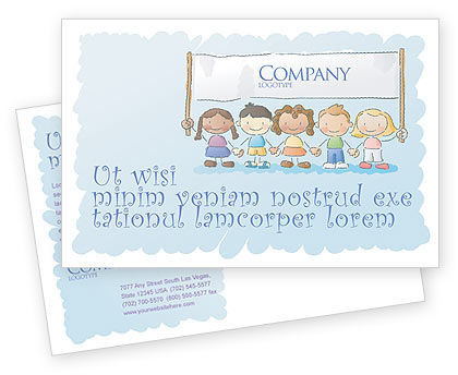 Financial/Accounting: Childish Postcard Template #05368