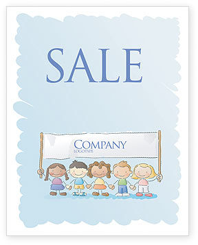 Childish Sale Poster Template, 05368, Financial/Accounting — PoweredTemplate.com