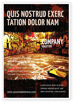 Art & Entertainment: Graffiti Zone Advertentie Template #05376