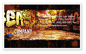 Graffiti Zone Business Card Template, 05376, Art & Entertainment — PoweredTemplate.com