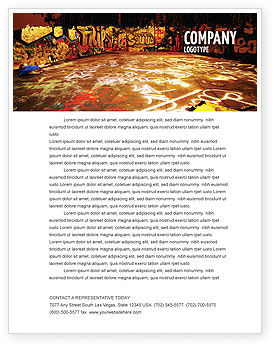 Art & Entertainment: Graffiti Zone Letterhead Template #05376