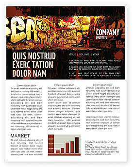 Art & Entertainment: Graffiti Zone Nieuwsbrief Template #05376