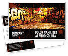 Art & Entertainment: Graffiti Zone Postcard Template #05376