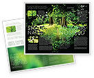 Nature & Environment: Pathway In The Forest Brochure Template #05377