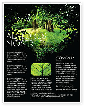 Nature & Environment: Pathway In The Forest Flyer Template #05377