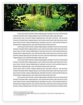 Nature & Environment: Pathway In The Forest Letterhead Template #05377