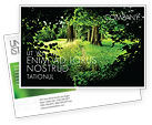 Nature & Environment: Pathway In The Forest Postcard Template #05377