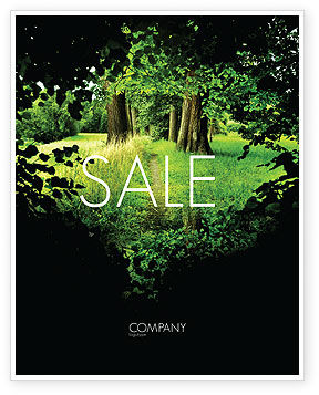 Pathway In The Forest Sale Poster Template, 05377, Nature & Environment — PoweredTemplate.com