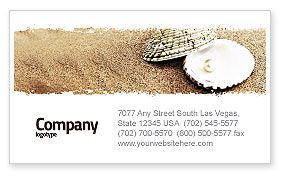 Holiday/Special Occasion: Pearl Business Card Template #05378