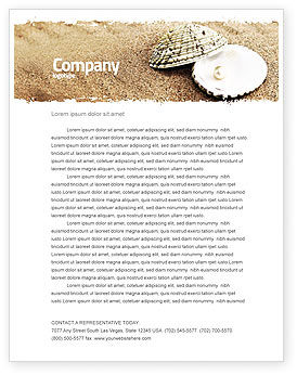 Holiday/Special Occasion: Pearl Letterhead Template #05378