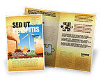 Nature & Environment: Wind Energy Versus Coal Plant Brochure Template #05385