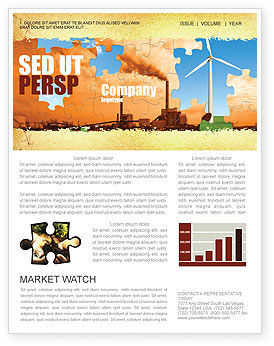 Wind Energy Versus Coal Plant Newsletter Template