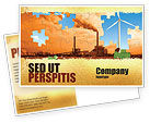 Nature & Environment: Wind Energy Versus Coal Plant Postcard Template #05385
