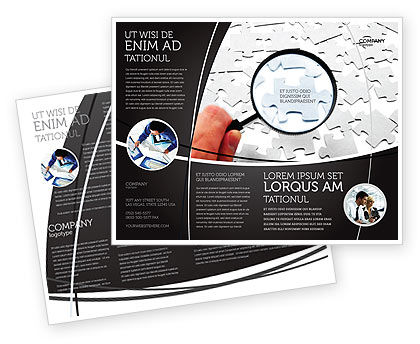 Detailed Searching Brochure Template, 05386, Consulting — PoweredTemplate.com