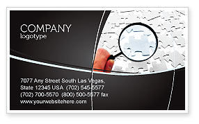 Detailed Searching Business Card Template, 05386, Consulting — PoweredTemplate.com