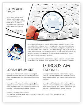 Consulting: Detailed Searching Flyer Template #05386