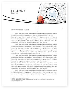 Detailed Searching Letterhead Template, 05386, Consulting — PoweredTemplate.com