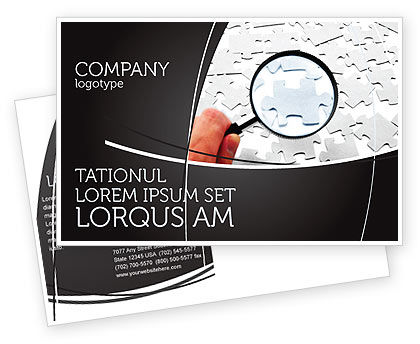 Consulting: Detailed Searching Postcard Template #05386