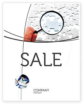 Detailed Searching Sale Poster Template, 05386, Consulting — PoweredTemplate.com