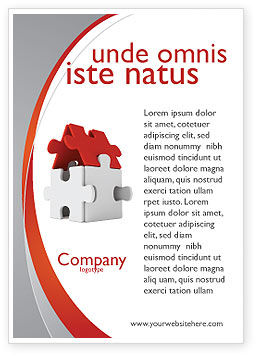 House Puzzle Ad Template, 05387, Financial/Accounting — PoweredTemplate.com