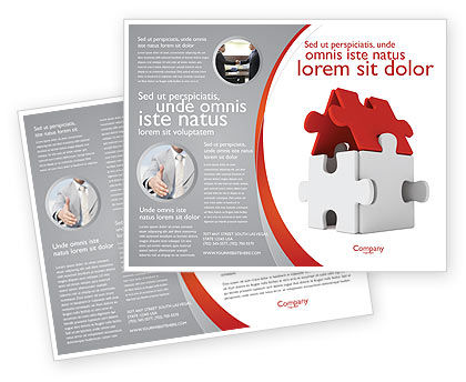 Financial/Accounting: House Puzzle Brochure Template #05387
