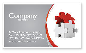 Financial/Accounting: House Puzzle Business Card Template #05387