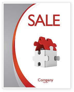 Financial/Accounting: House Puzzle Sale Poster Template #05387