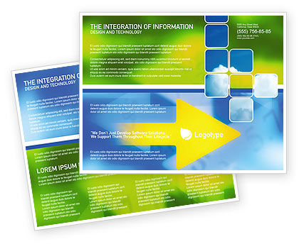 Economic Fluctuations Brochure Template