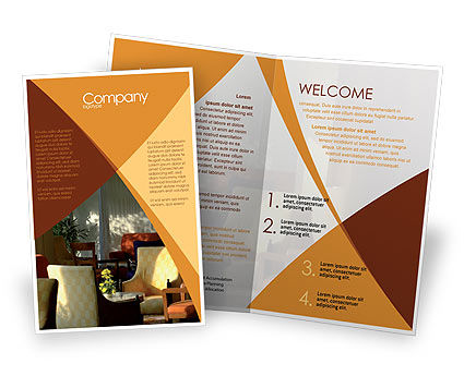 Hotel restaurant brochure template design and layout for Brochure templates for publisher