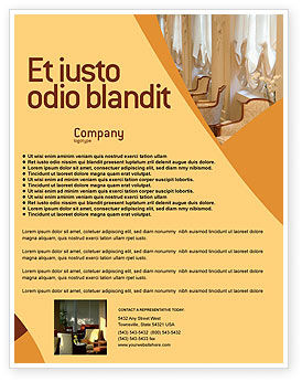 Hotel Restaurant Flyer Template, 05392, Careers/Industry — PoweredTemplate.com