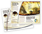 Education & Training: Castles And Fortress Brochure Template #05396
