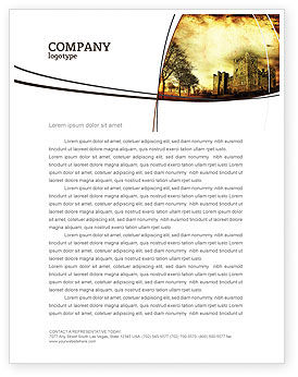 Castles And Fortress Letterhead Template, 05396, Education & Training — PoweredTemplate.com