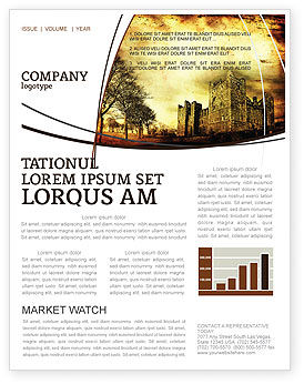 Castles And Fortress Newsletter Template