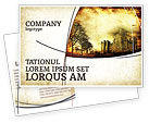 Education & Training: Castles And Fortress Postcard Template #05396