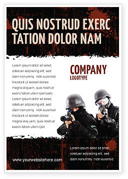 Military: Slaan Advertentie Template #05404