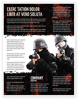 SWAT Flyer Template, 05404, Military — PoweredTemplate.com