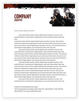 SWAT Letterhead Template, 05404, Military — PoweredTemplate.com